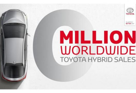10 Million Worldwide Sales Of Toyota Hybrids