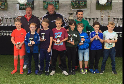 Higham Under 9's Squad with Norman, Steve & Tony